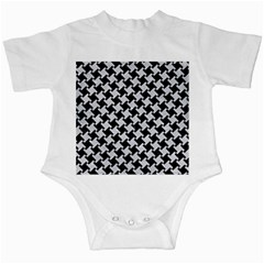 Houndstooth2 Black Marble & Silver Glitter Infant Creepers by trendistuff