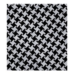 Houndstooth2 Black Marble & Silver Glitter Shower Curtain 66  X 72  (large)  by trendistuff
