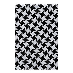 Houndstooth2 Black Marble & Silver Glitter Shower Curtain 48  X 72  (small)  by trendistuff
