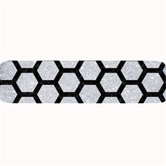 Hexagon2 Black Marble & Silver Glitter Large Bar Mats by trendistuff