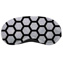Hexagon2 Black Marble & Silver Glitter Sleeping Masks by trendistuff