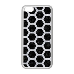 Hexagon2 Black Marble & Silver Glitter (r) Apple Iphone 5c Seamless Case (white) by trendistuff