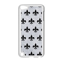 Royal1 Black Marble & Silver Glitter (r) Apple Ipod Touch 5 Case (white) by trendistuff