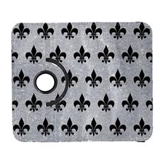Royal1 Black Marble & Silver Glitter (r) Galaxy S3 (flip/folio) by trendistuff