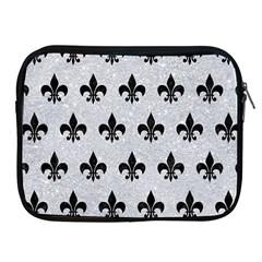 Royal1 Black Marble & Silver Glitter (r) Apple Ipad 2/3/4 Zipper Cases by trendistuff