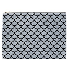 Scales1 Black Marble & Silver Glitter Cosmetic Bag (xxl)  by trendistuff