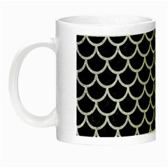 Scales1 Black Marble & Silver Glitter (r) Night Luminous Mugs by trendistuff