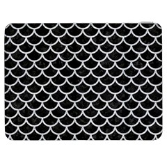 Scales1 Black Marble & Silver Glitter (r) Samsung Galaxy Tab 7  P1000 Flip Case by trendistuff