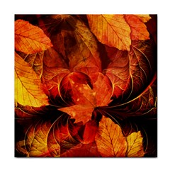 Ablaze With Beautiful Fractal Fall Colors Tile Coasters by jayaprime