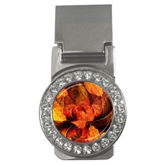 Ablaze With Beautiful Fractal Fall Colors Money Clips (cz)  by beautifulfractals