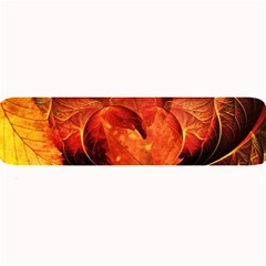 Ablaze With Beautiful Fractal Fall Colors Large Bar Mats by jayaprime