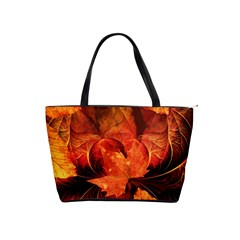 Ablaze With Beautiful Fractal Fall Colors Shoulder Handbags by jayaprime