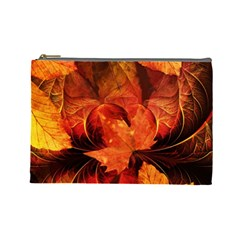 Ablaze With Beautiful Fractal Fall Colors Cosmetic Bag (large)  by beautifulfractals