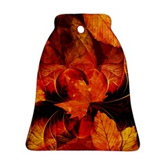 Ablaze With Beautiful Fractal Fall Colors Ornament (bell) by beautifulfractals
