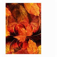 Ablaze With Beautiful Fractal Fall Colors Small Garden Flag (two Sides) by beautifulfractals