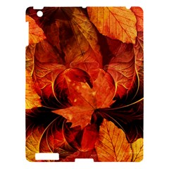 Ablaze With Beautiful Fractal Fall Colors Apple Ipad 3/4 Hardshell Case by jayaprime
