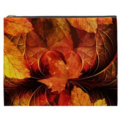 Ablaze With Beautiful Fractal Fall Colors Cosmetic Bag (xxxl)  by jayaprime
