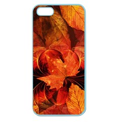 Ablaze With Beautiful Fractal Fall Colors Apple Seamless Iphone 5 Case (color) by beautifulfractals