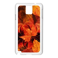Ablaze With Beautiful Fractal Fall Colors Samsung Galaxy Note 3 N9005 Case (white) by jayaprime