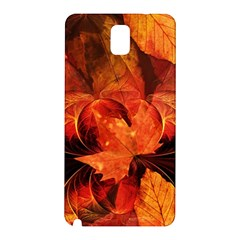 Ablaze With Beautiful Fractal Fall Colors Samsung Galaxy Note 3 N9005 Hardshell Back Case by jayaprime