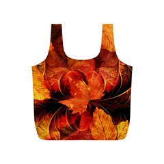 Ablaze With Beautiful Fractal Fall Colors Full Print Recycle Bags (s)  by jayaprime