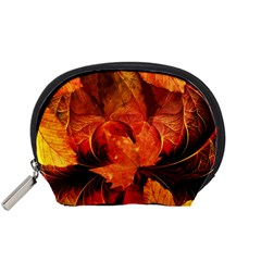 Ablaze With Beautiful Fractal Fall Colors Accessory Pouches (small)  by jayaprime