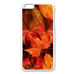 Ablaze With Beautiful Fractal Fall Colors Apple Iphone 6 Plus/6s Plus Enamel White Case by jayaprime