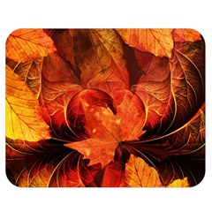 Ablaze With Beautiful Fractal Fall Colors Double Sided Flano Blanket (medium)  by jayaprime