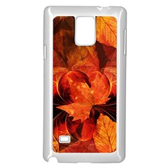 Ablaze With Beautiful Fractal Fall Colors Samsung Galaxy Note 4 Case (white) by jayaprime