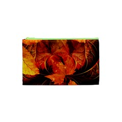 Ablaze With Beautiful Fractal Fall Colors Cosmetic Bag (xs) by beautifulfractals