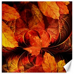 Ablaze With Beautiful Fractal Fall Colors Canvas 20  X 20   by jayaprime