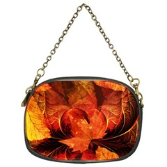 Ablaze With Beautiful Fractal Fall Colors Chain Purses (one Side)  by jayaprime
