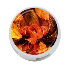 Ablaze With Beautiful Fractal Fall Colors 4 Port Usb Hub (two Sides)  by beautifulfractals
