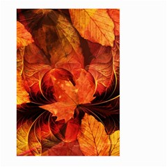 Ablaze With Beautiful Fractal Fall Colors Large Garden Flag (two Sides) by jayaprime