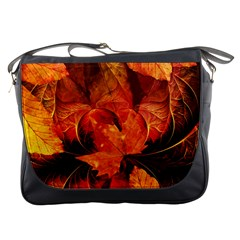 Ablaze With Beautiful Fractal Fall Colors Messenger Bags by beautifulfractals