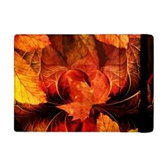 Ablaze With Beautiful Fractal Fall Colors Apple Ipad Mini Flip Case by jayaprime