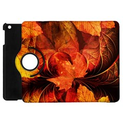 Ablaze With Beautiful Fractal Fall Colors Apple Ipad Mini Flip 360 Case by beautifulfractals