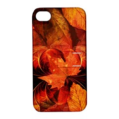 Ablaze With Beautiful Fractal Fall Colors Apple Iphone 4/4s Hardshell Case With Stand by jayaprime