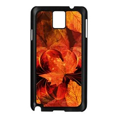 Ablaze With Beautiful Fractal Fall Colors Samsung Galaxy Note 3 N9005 Case (black) by jayaprime