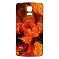 Ablaze With Beautiful Fractal Fall Colors Samsung Galaxy S5 Back Case (white) by beautifulfractals