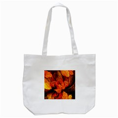 Ablaze With Beautiful Fractal Fall Colors Tote Bag (white) by jayaprime
