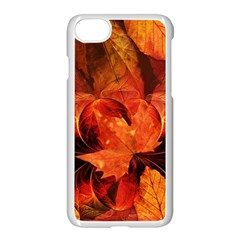 Ablaze With Beautiful Fractal Fall Colors Apple Iphone 7 Seamless Case (white) by jayaprime