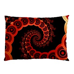 Chinese Lantern Festival For A Red Fractal Octopus Pillow Case (two Sides) by jayaprime