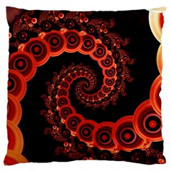 Chinese Lantern Festival For A Red Fractal Octopus Large Cushion Case (two Sides) by jayaprime