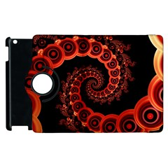 Chinese Lantern Festival For A Red Fractal Octopus Apple Ipad 3/4 Flip 360 Case by beautifulfractals