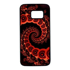 Chinese Lantern Festival For A Red Fractal Octopus Samsung Galaxy S7 Black Seamless Case