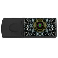 Leaf Earth And Heart Butterflies In The Universe Rectangular Usb Flash Drive by pepitasart