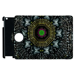 Leaf Earth And Heart Butterflies In The Universe Apple Ipad 2 Flip 360 Case by pepitasart