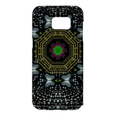 Leaf Earth And Heart Butterflies In The Universe Samsung Galaxy S7 Edge Hardshell Case by pepitasart