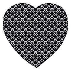 Scales2 Black Marble & Silver Glitter (r) Jigsaw Puzzle (heart) by trendistuff